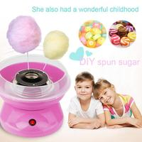 Mini Portable Cotton Sugar Floss Machine Electric DIY Sweet Cotton Candy Maker Food Processors EU Plug Children's Girl Boy Gift
