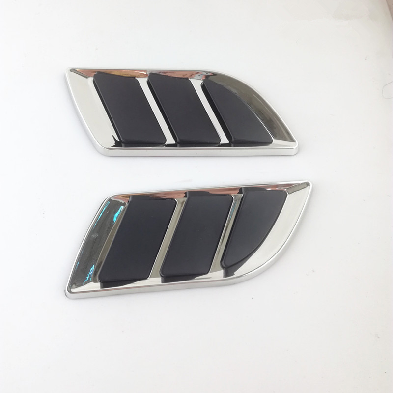 2 Pcs car styling auto Hood Fender Decorative Air Flow Intake Scoop Bonnet Vent Cover decorative stickers Universal
