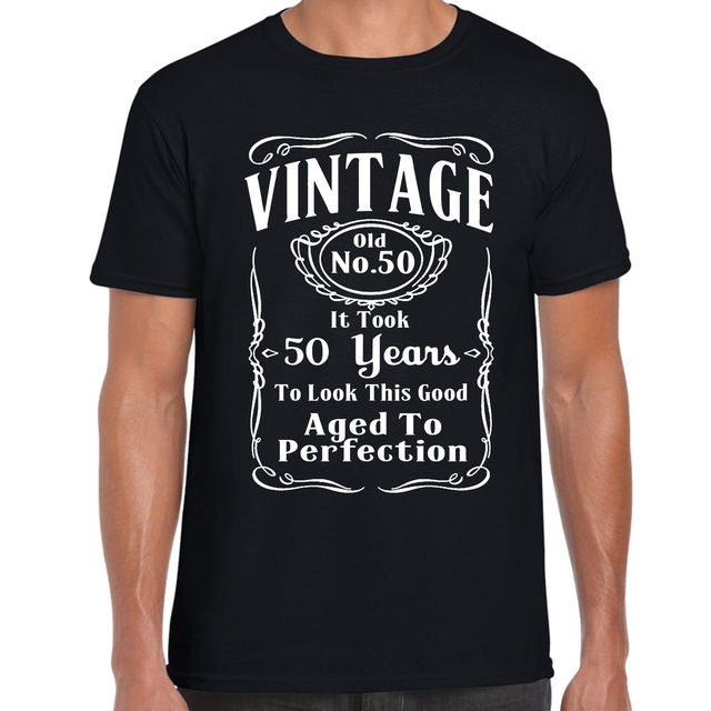 2018 New Fashion Brand Print T Shirt Male Grabmybits Vintage 50Th Birthday Gift 50 Years Old Silk Screen Shirts