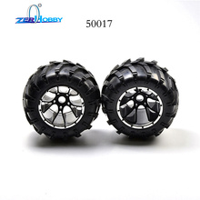 rc car spare parts wheel complete set for hsp 1/5 off road monster truck 94050 (part no. 50017) цена
