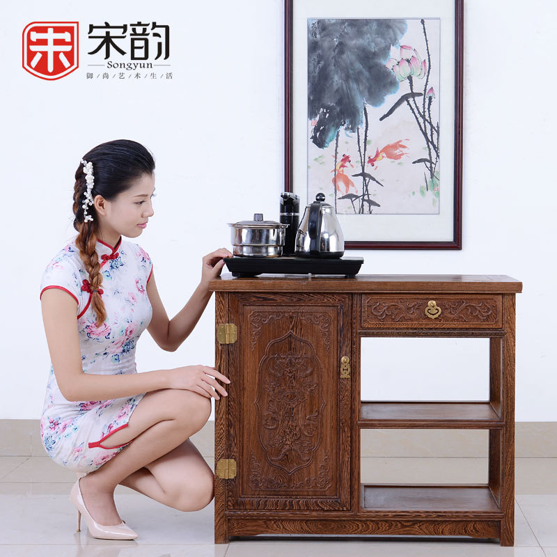 Song Yun Mahogany Furniture Wooden Tea Tea Table Storage Tank Side Several Chinese Wood Wall Cupboard