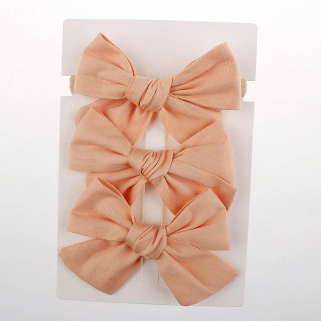 Baby Girl Hair Bow and Headband 3 pcs. Combo Matching Set