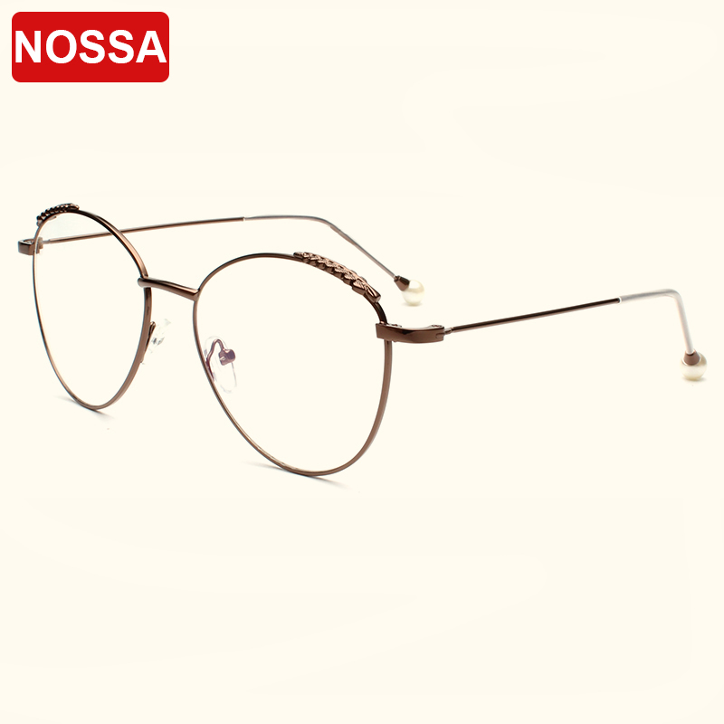 NOSSA Brand Personality Pearl Glasses Frames Women And Men\'s ...