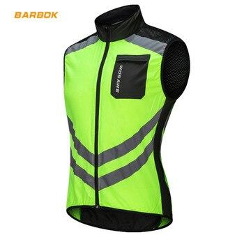 WOSAWE Reflective Motorcycle Vests Sleeveless Windproof Waterproof Sports Jackets MTB Road Biker Clothes Coat Motocross
