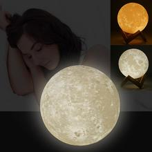 Luna Night Light LED Moon Lamp Touch Control Lighting Color Changing Night Light Night Table Lamp цена