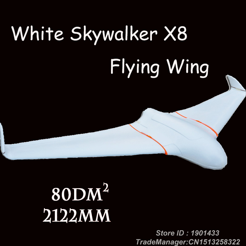 Skywalker X8 white Version Skywalker FPV Flying Wing 2122mm RC Plane Empty frame 2 Meters x-8 EPO RC Toy 2120mm big plane rc plane kit black fpv fixed wing skywalker x8 x 8 epo uav flying wing fpv rc airplene remote controller toy