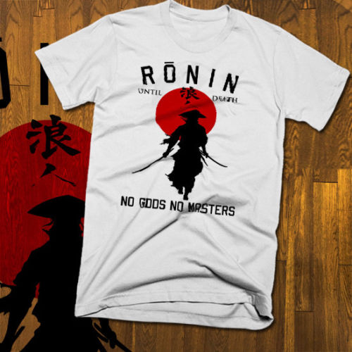 Samurai T-Shirt, Ronin Japanese Bushido Code Kanji Retro New Summer Fashion Men Short-Sleeved Cotton Customize T Shirts