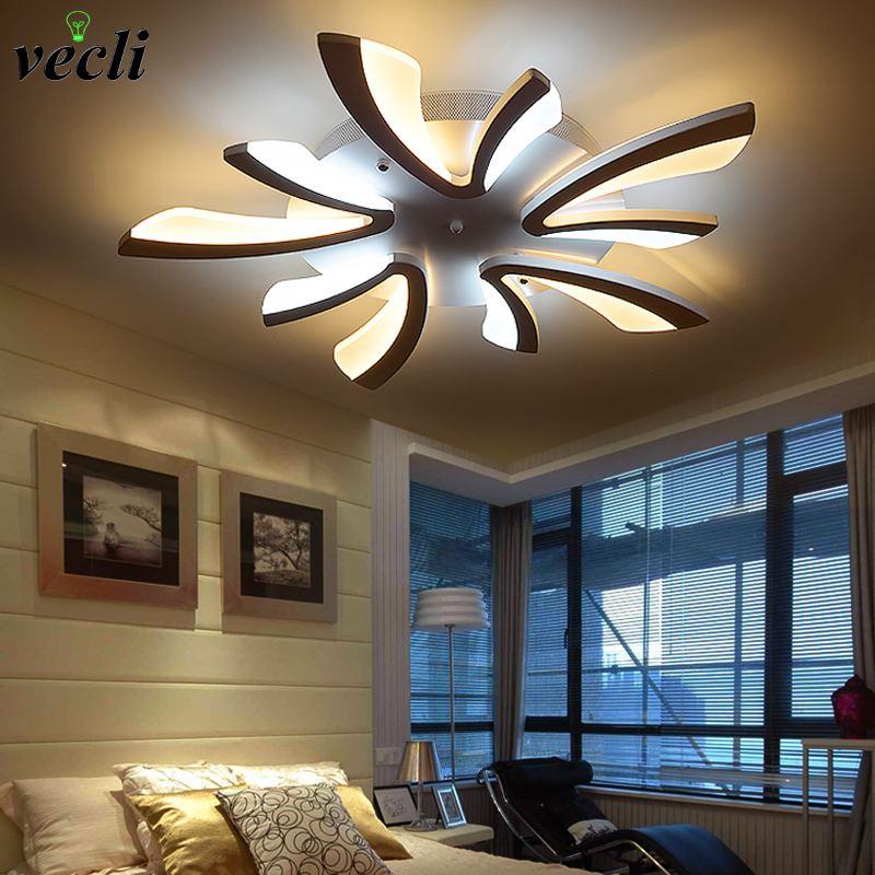 New Design Acrylic Modern Led Ceiling Lights For Living Study Room Bedroom Ceiling Lamps Indoor Lighting Fixtures AC110-265V