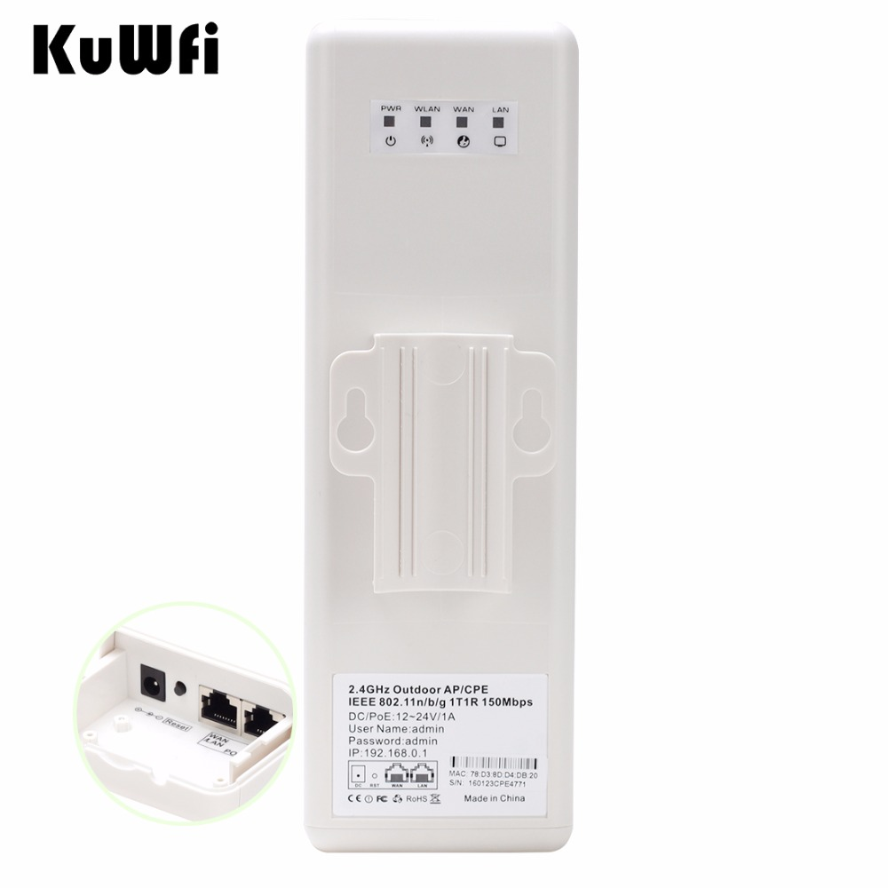 2Km Longue Portée Sans Fil Extérieure CPE routeur wifi 2.4 Ghz 150 Mbps répéteur wi-fi Extender Extérieure routeur AP AP Pont Client Routeur - 3