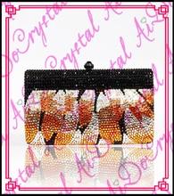 aidocrystal heißer verkauf handgefertigt orangenblütenblätter design abgedeckt kristall kleine kupplung frauen abendgesellschaft handtaschen