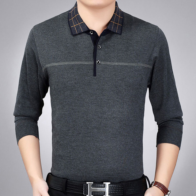 2018 hot marca linha de manga longa camisa pólo homens pol camisa masculina  de fitness musculação ade09c71258af