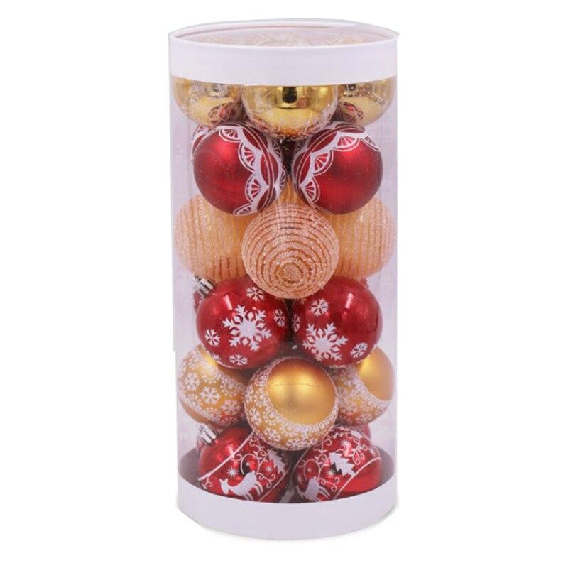 6 см 24 шт Рождественская елка украшение шар Рождественская вечеринка подвесные шары Декор семейное Рождественское украшение, подарок украш...