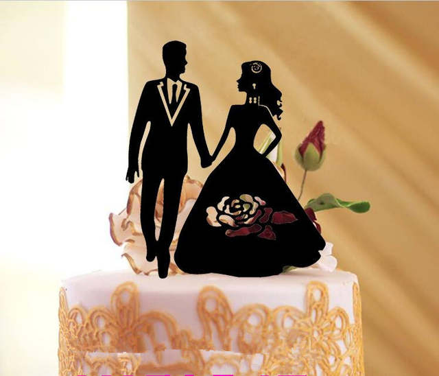 Funny Wedding Gifts.Us 5 99 Free Shipping Black Acrylic Bride Groom Engagement Cake Topper Funny Wedding Gifts Mr Mrs Cake Topper Accessories In Cake Decorating