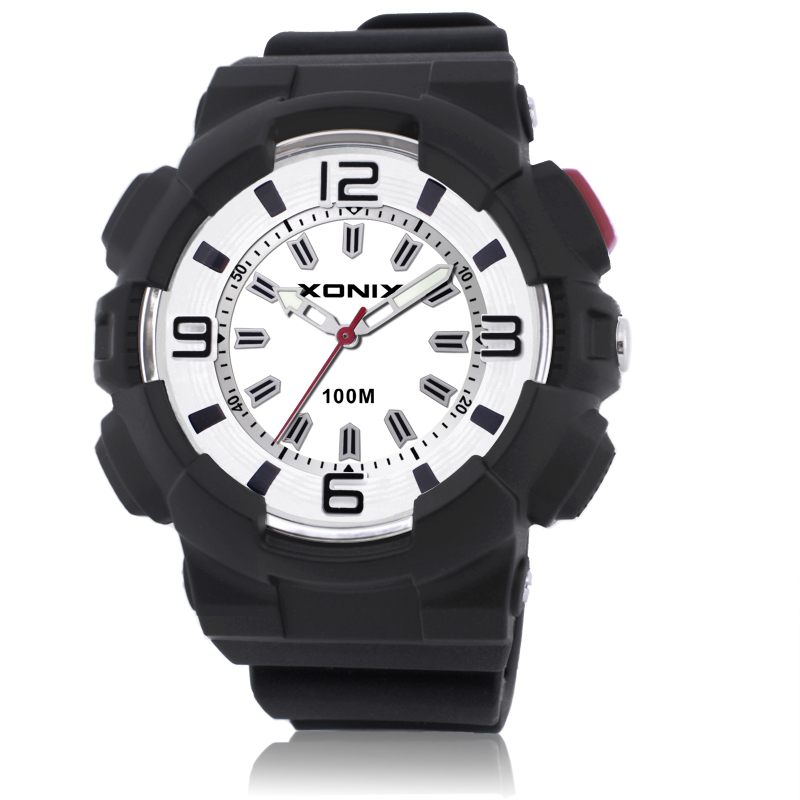 Sport Brand Fashion Men Military Sports Water Resistant Watches Men's Quartz Clock Man Silicone Strap Casual Wrist Watch QU