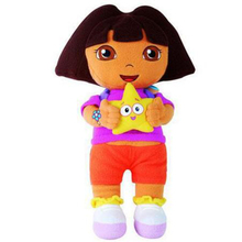 25cm Lovely Dora the Explorer with Star Extra Large Plush Doll Dora explorer Baby Toy Kawaii Toy for Girls Free Shipping