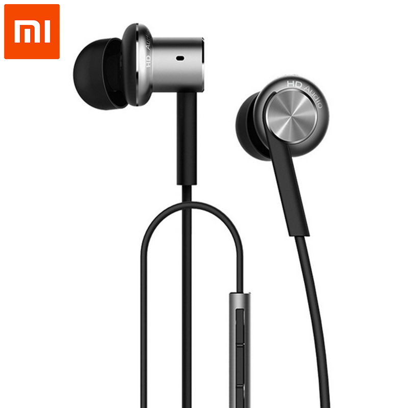 100% Original Xiaomi Hybrid/Pro HD Earphone In-Ear HiFi Earphones Mi Piston 4 With Mic Circle Iron Mixed For Redmi Pro Note3 MI5 original xiaomi xiomi mi hybrid earphone 1more design in ear multi unit piston headset hifi for smart mobile phone fon de ouvido