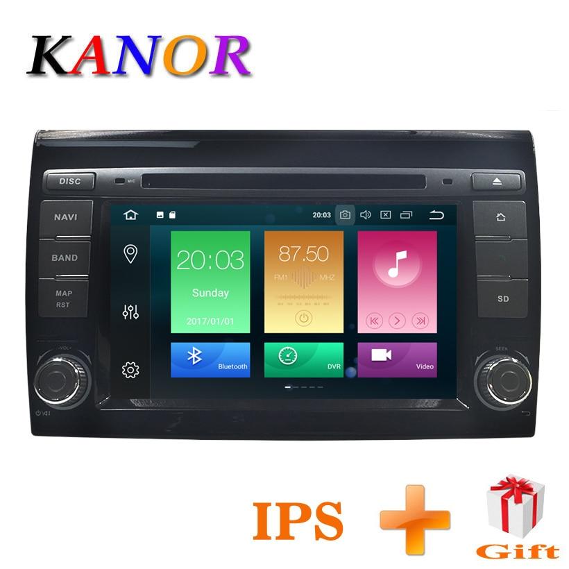 KANOR Auto Multimedia player Android 8.0 GPS 2 Din Auto Autoradio Für Fiat Bravo 2007 2008 2009 2010 2011 2012 CANBUS 4 gb RAM FM