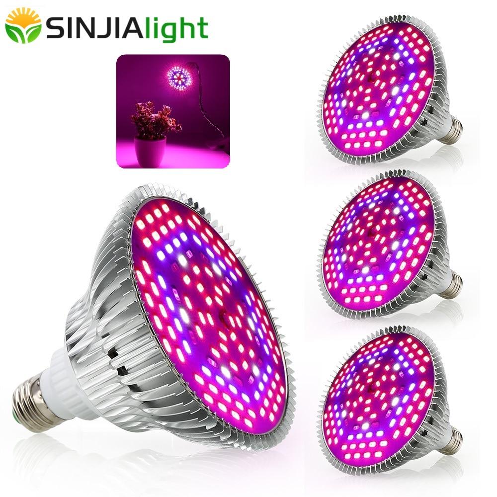 4pcs/lot Full Spectrum LED Grow Lights 30W 50W 80W Growth Lamp Phytolamps For Plants Flower Bulbs Aquarium Indoor Grow Box