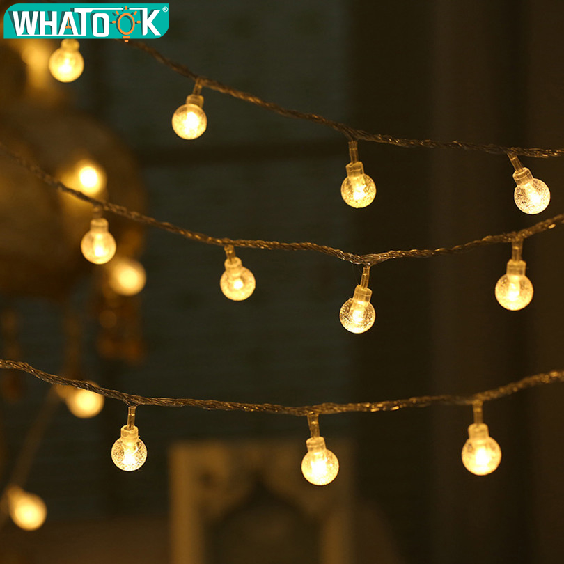 Christmas Lights Outdoor 5M 10M 20M 30M 50M LED Lamp String Light Waterproof for Garden Christmas Tree Wedding Party Decoration цена