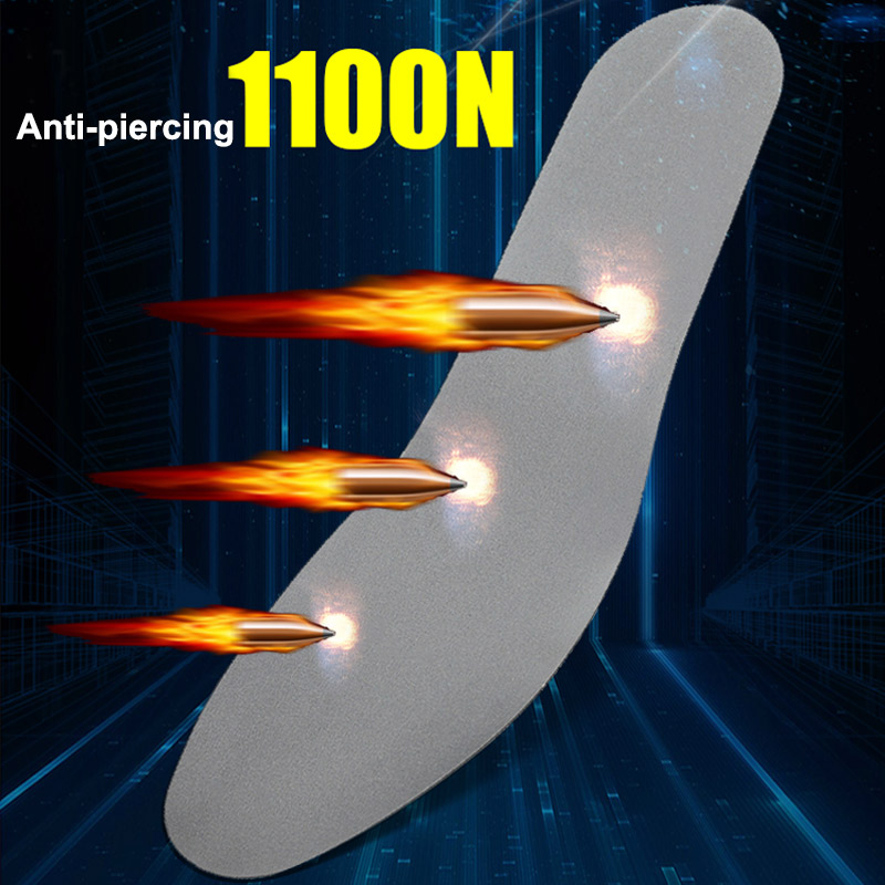 Safety Insoles For Shoes Tungsten Steel Plate Anti-nail Anti-piercing Foot Larbor Protection Insoles