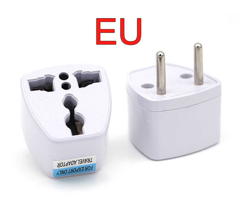New Arrival 1 PC Universal UK US AU to EU AC Power Socket Plug Travel Electrical Charger Adapter Converter Japan China American (7)