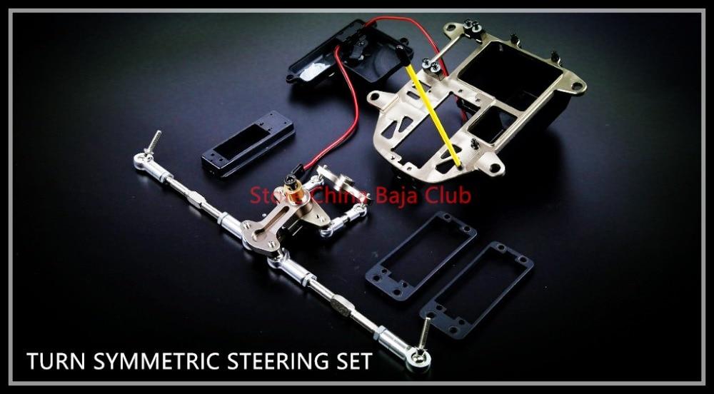 1/5 BAJA CNC TURN SYMMETRIC STEERING SET FOR HPI KM ROVAN BAJA 5B SS 85273 cnc metal steering wiper arm set for 1 5 hpi baja 5b 5t 5sc