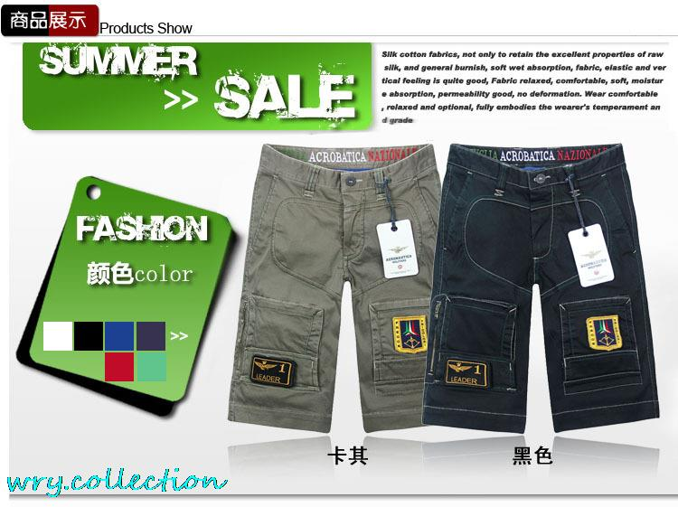 AERONAUTICA MILITARE short, men pants with top stitching,excellent trousers black ,khaki plus size S-XXL free shipping