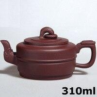 Hot Sale Porcelain Kettle Teapot Yixing Teapots 310ml Purple Clay Ceramic Chinese Handmade Kung Fu Set