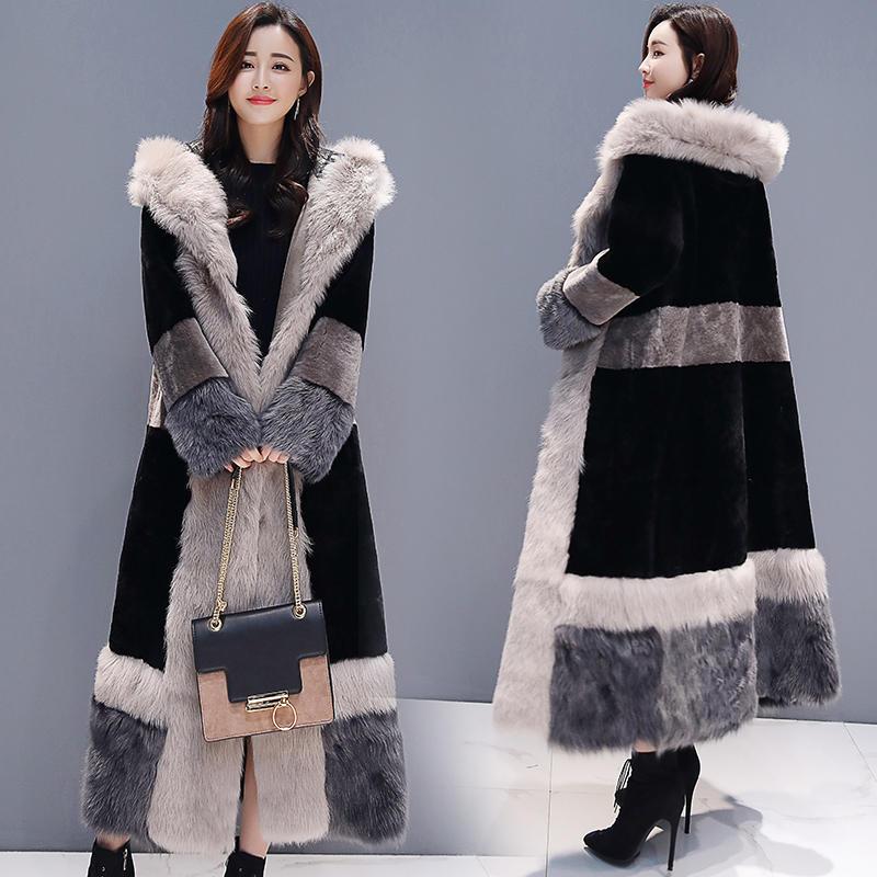 Зимняя куртка женская плюс бархатная теплая Толстая длинная шуба женская элегантная с длинным рукавом плюс размер зимняя куртка Женская Ст...