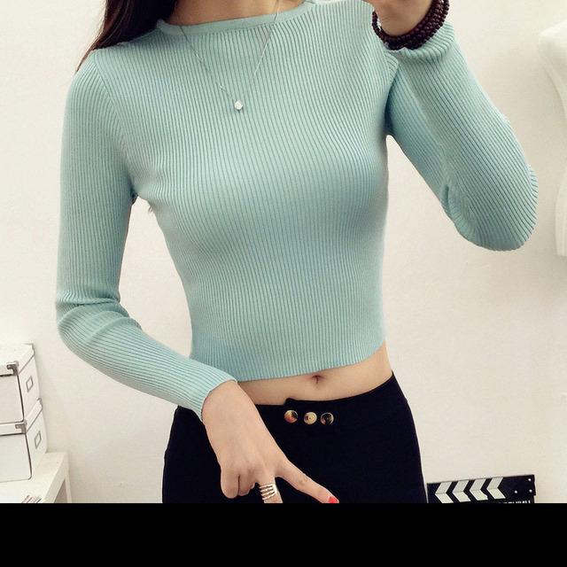 T Camisa de Las Mujeres 2016 Moda Otoño Primavera de Manga Larga O Cuello Vendaje Camisas Casual Sexy Mujeres de La Camiseta Camisetas Feminina