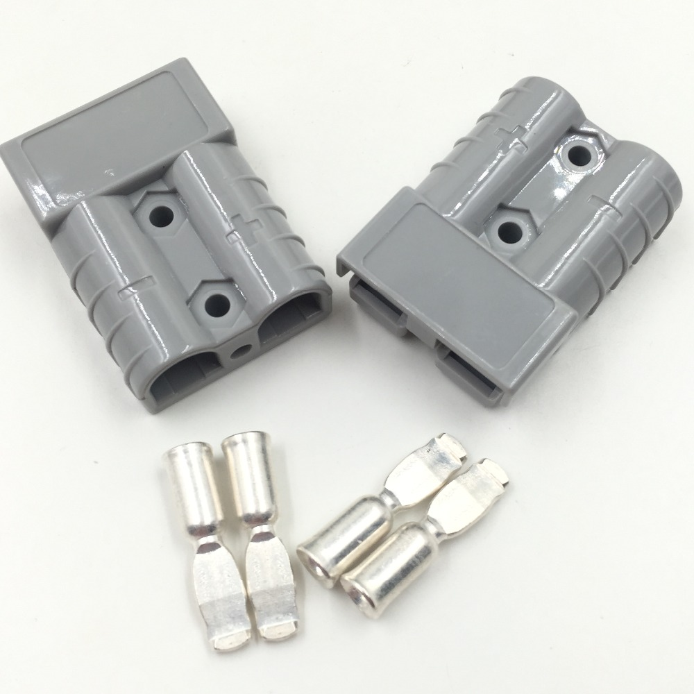 2pcs  Power Products SB50 600V Connector 992 Gray 8AWG 5952 Pin Cable