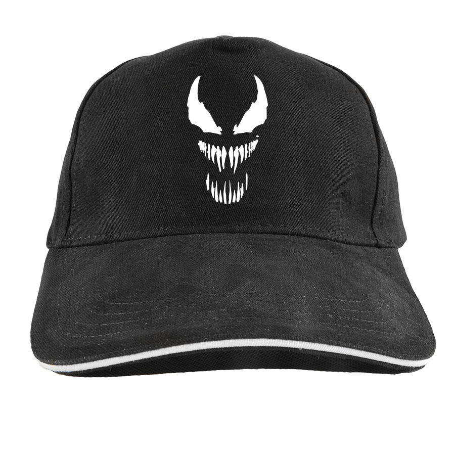 Venom   Baseball     Cap   Anime Men Movie Originality Spiderman Cotton Streetwear Cool Hip Hop Adjustable Hat Male