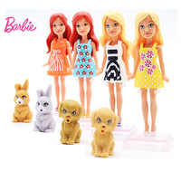 Original Barbie Mini Doll Pet series 1Pcs Toys Zodiac And Birthday Series With Dress Clothes American Girls Boneca juguetes