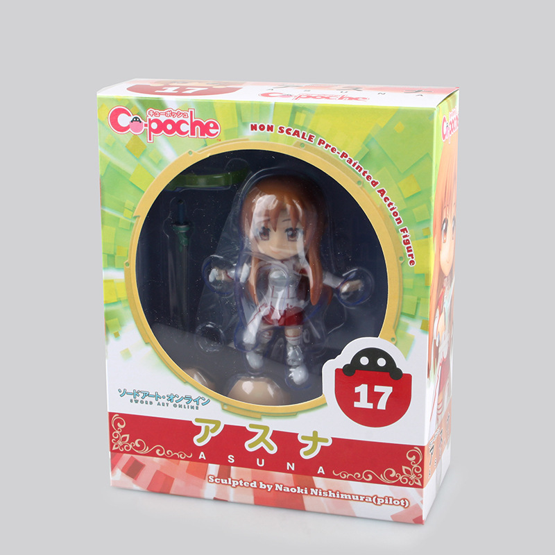 12cm Sword Art Online Asuna Nendoroid Anime Action Figure PVC New Collection figures toys Collection for friends gift 1