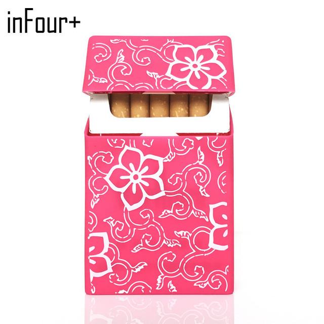 Hot Holds 20 Cigarettes,New Flowers Silicone Cigarette Case  Cover Elastic Rubber Portable Man/Women Cigarette Box Sleeve