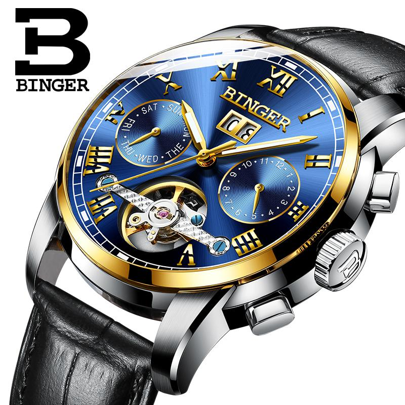 BINGER 2019 NEW Relogio Masculino Mens Watch Top Brand Luxury Tourbillon Automatic Mechanical Watch Men gold Skeleton WristwatchBINGER 2019 NEW Relogio Masculino Mens Watch Top Brand Luxury Tourbillon Automatic Mechanical Watch Men gold Skeleton Wristwatch