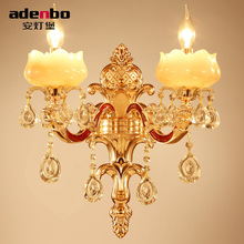 Luxury Gold Alloy LED Crystal Sconce Lamp Indoor Wall Lights With 1 Light 2 Lights For Bedroom And Hallway Lighting (2059-1-2)