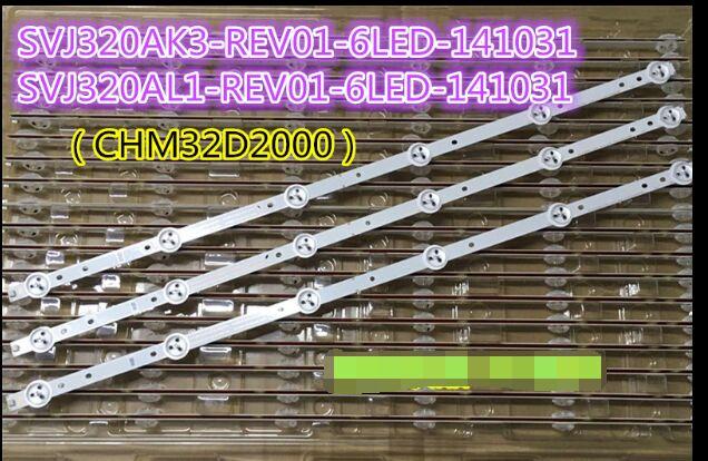 3 peças/lote nova barra de luz led de 32 polegadas svj320ag2-rev2-6LED-130307 tira de lâmpada 6 luz