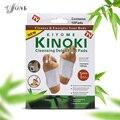 Розничная коробка 10 Коробок Очищение Ноги Detox Kinoki Колодки Очистить Оживить Ваше Тело (1 лот = 10 Коробка = 200 шт. = 100 шт. Патчи + 100 шт. Клей)