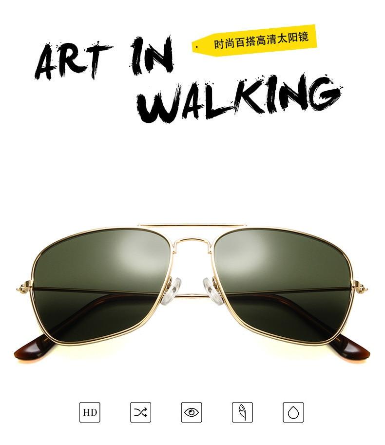 fa74e7940f Samjunio hombres cuadrados lentes planos gafas de sol aviación marca ...