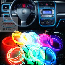 Universal 2.3 mm 3M 10 Colors Car Styling Flexible Neon Light EL Wire Rope Decoration Strip with Controller Free shipping