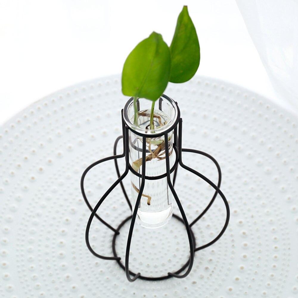 4 стиль кованая ваза Творческий горшок гидропоники цветок стенд вазы Desktop украшения дома Conainer Soliflore Verre
