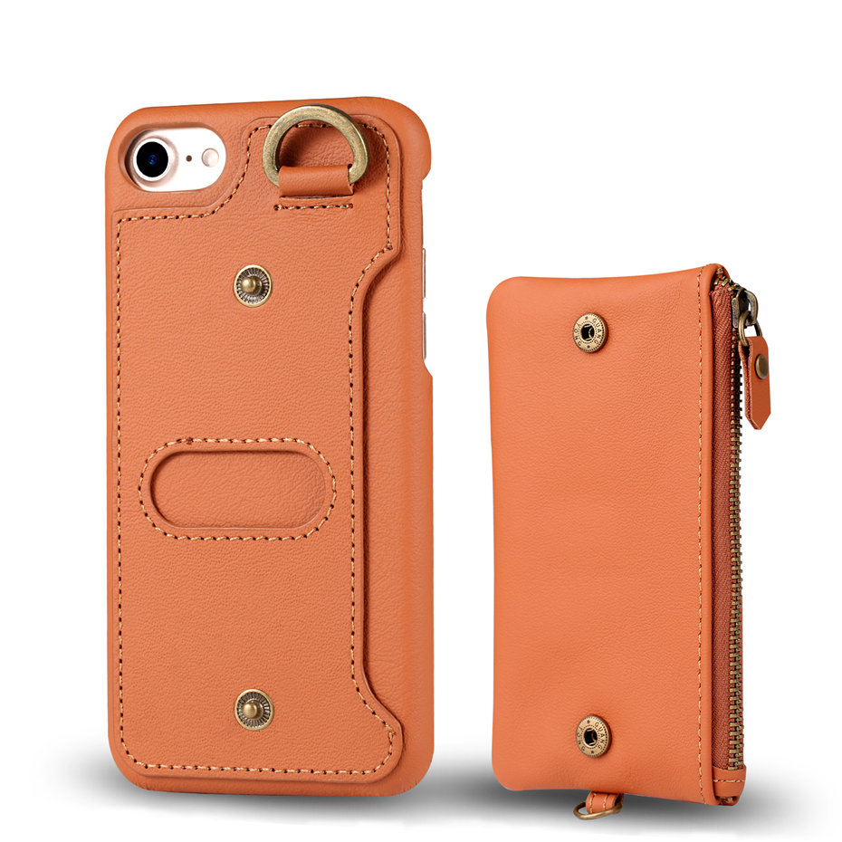 COQUEN For iphone 7 Plus Case Genuine Leather Wallet Bag Luxury Credit Card Flip Cover Vintage Handle Phone Cases For iphone 7   (7)