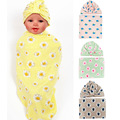 80*80CM New Cotton Newborn Baby Boys Girls Beanies Hats Cotton Receiving Swaddle Blankets Sleeping Blanket Stroller Cover
