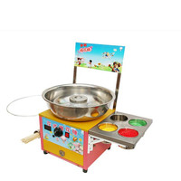 Commercial Gas Cotton Candy Maker Machine 4 Sugar Cylinder 4 Flavor Cotton Candy Snack Making Machine For Cotton Candy Maker