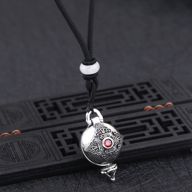 100% Quality Fine Antique Miao-silver Old White Copper Chinas Tibetan Buddhism Taoism Cloisonne Copper Displacement Magic Sword Sword Home & Garden