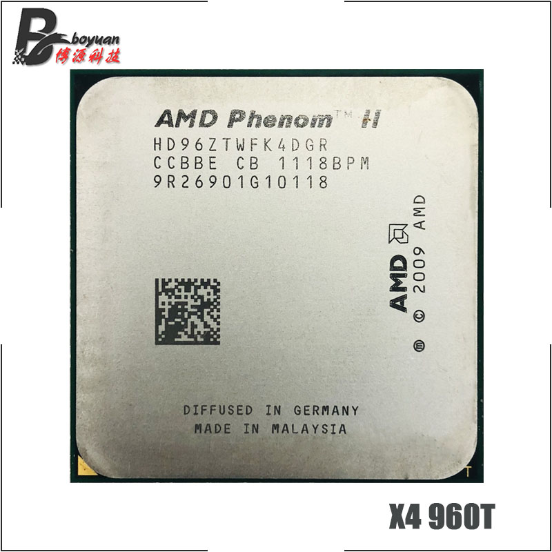 AMD Phenom II X4 960T 3.0 GHz Quad-core CPU Processor HD96ZTWFK4DGR Socket AM3