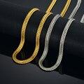 Gold Chain For Men Golden Necklace Men Jewelry Wholesale 6MM 17-25 Men's Gold Color Snake Chain Necklace Colar Collier