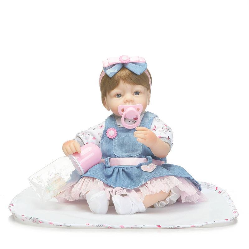 42cm Doll Silicone Reborn oft Lifelike Simulation Handmade Realistic Baby Girls BoysDolls Vinyl Bebe Reborn Babies Toys Boencas