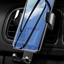 Гравитационный держатель для сотового телефона для автомобиля на вентиляционное отверстие, зажим для крепления, подставка, кронштейн для iPhone, samsung, huawei, Автомобильный gps, черный, белый, 1 шт